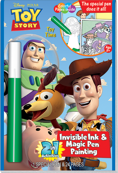 Lee Publications - TS123 - Toy Story 2-in-1 Invisible Ink and Magic Painting Book