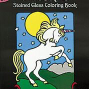 Dover - 9780486409702 - Unicorn Stained Glass Coloring Book