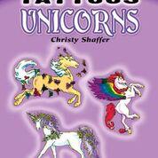 Dover - 9780486468099 - Glow in the Dark Tattoos Unicorns
