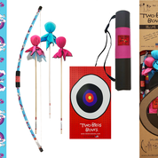 Two Bros Bows - 019-DLX-UNI Unicorn Bow, Princess, Aqua & Pink Arrows , Pink Quiver Bag & Trifold Target.