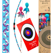 Two Bros Bows - 019-PKG-UNI Unicorn Bow, Princess, Aqua & Pink Arrows , Pink Quiver Bag & Trifold Target