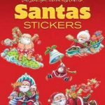 Dover - 467993 - Glitter Santa Stickers