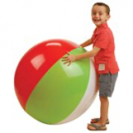 US Toy - IN239 - Beachball Inflate 48 in, 30 in diam