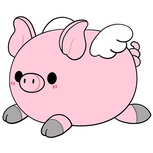 Squishable - 114003 - Flying Piglet