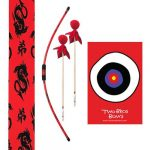 Two Bros Bows - Dragon Bow, 2 Red & Black Arrows, Red Quiver Bag